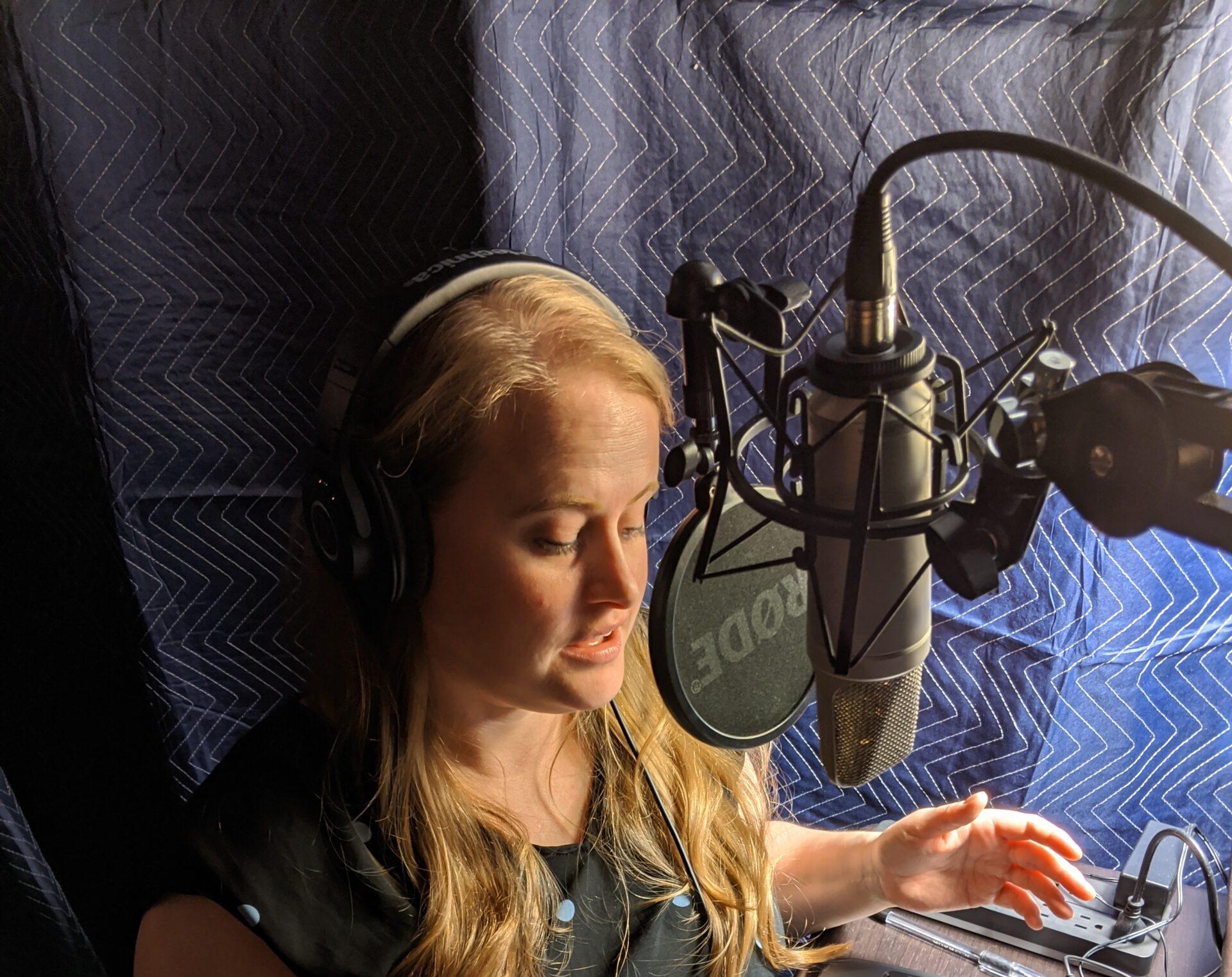 Voice Actor in home studio